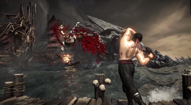 File:MKX Liu Kang knocking off Quan Chi Stage Brutality.png
