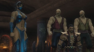 Kitana brings Shao Kahn to trial