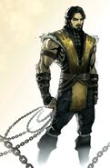 Scorpion unmasked MKX Comic Concept Art