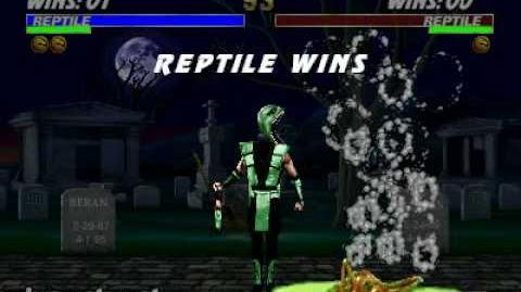 Ultimate Mortal Kombat 3 - Fatality 2 - Reptile