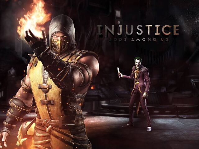 File:Mortal Kombat X Scorpion Joker Injustice.jpg