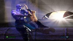 Quan Chi on the Sax