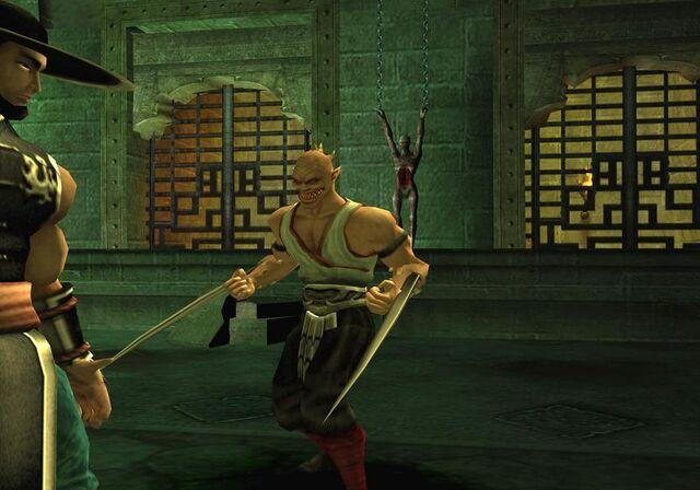 File:Kung Lao vs. Baraka.jpg