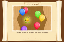 Balloon pop starting page