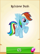 Rainbow Dash in store unlocked