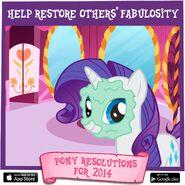 Pony Resolutions 2014 Rarity