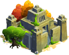 Pyramid-Shaped Temple