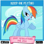 Pony Resolutions 2014 Rainbow Dash