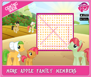 Sweet Apple Acres completed character wordsearch