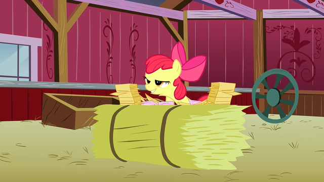 "File:Apple Bloom about to say ""Manehattan!"" S3E08.png"