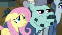 Fluttershy and McColt stallion hear something S5E23