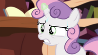 Sweetie Belle struggling with magic S4E15