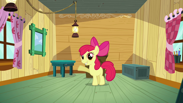 File:Apple Bloom introducing the CMC's clubhouse S3E04.png