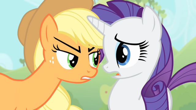 File:Applejack faces Rarity S4E07.png