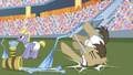 Dr. Hooves trips over arrow bucket S4E24.png