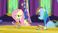 Fluttershy finishes Pinkie's sentence S5E3