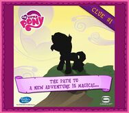 MLP mobile game Sunset Shimmer clue 1