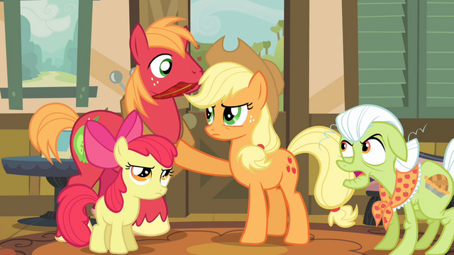 File:Applejack preventing Big McIntosh from moving S4E09.png
