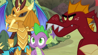 Ember, Spike, and Garble hear boulders S6E5