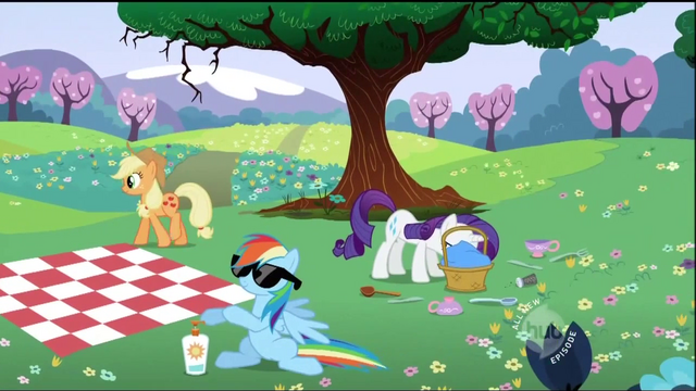 File:The ponies are at a picnic S2E03.png
