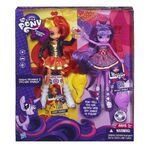 Twilight Sparkle and Sunset Shimmer Equestria Girls dolls in box