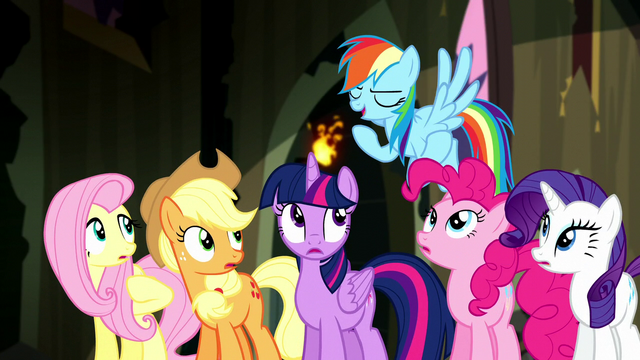"File:Rainbow Dash ""we've got the cure for that!"" S5E13.png"