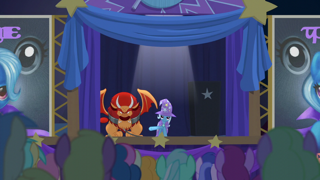 File:Trixie presents the pony-eating manticore S6E6.png