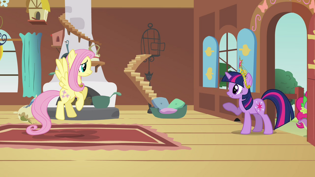 "File:Twilight and Fluttershy ""you sure you're okay with this?"" S03E10.png"
