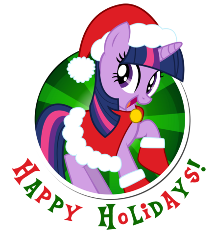 File:FANMADE Twilight Sparkle happy holidays.png