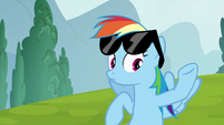 Rainbow Dash stops cheering S6E14