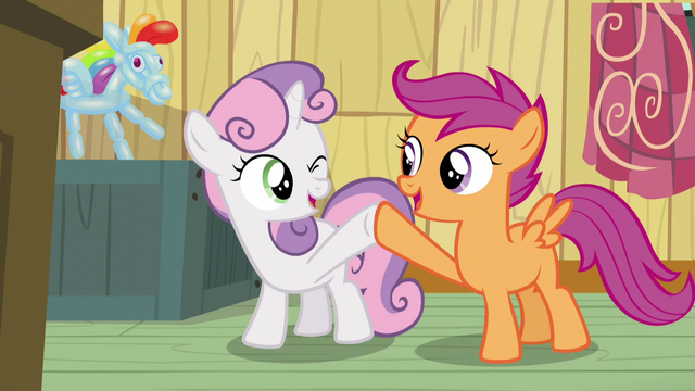File:Sweetie Belle and Scootaloo hoof-bump S5E4.png