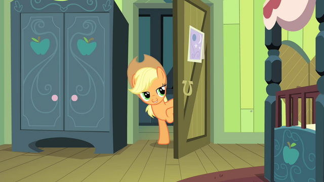 "File:Applejack ""check on you again in a bit"" S4E17.png"
