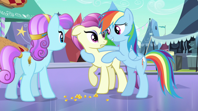 File:Rainbow Dash without crystal heart S3E1.png