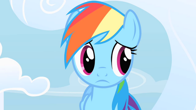 File:Rainbow Dash doubtfully listens to Fluttershy's ineffective consolation S1E16.png