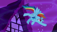 "Rainbow Dash emphasizes ""...in Ponyville!"" S5E13"