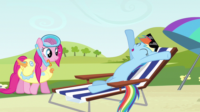 File:Rainbow Dash stretching S3E3.png