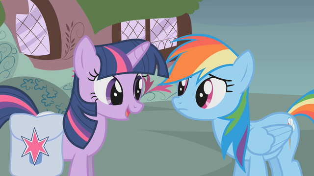 File:Rainbow Dash and Twilight talk about Fluttershy S1E07.png