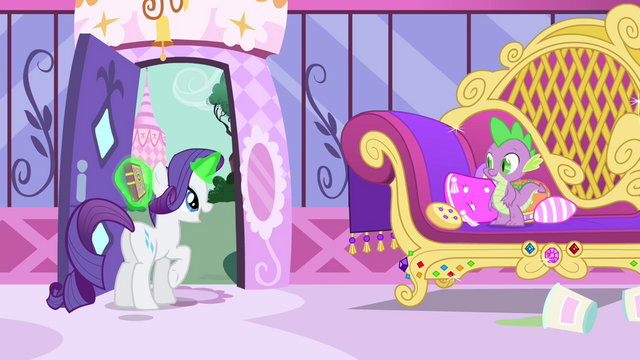 "File:Rarity ""with the most fantastic theater he's ever imagined!"" S4E23.png"