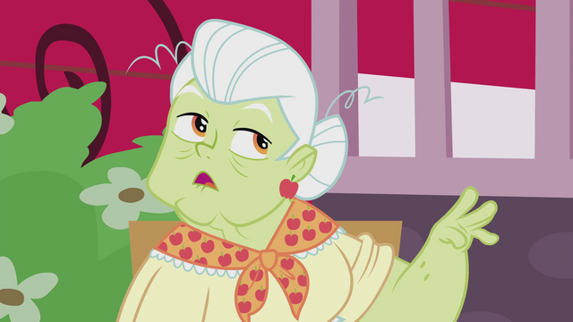 """File:Granny Smith """"Flibbity Flabbity or something"""" EG2.png"""