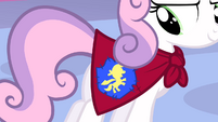 Sweetie Belle Cutie Marks Crusaders cape emblem S1E17