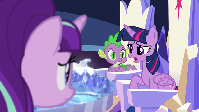 "File:Twilight ""how badly Equestria fared without..."" S5E26.png"