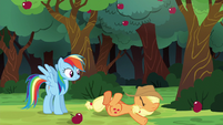 Applejack's hat lands on her face S6E18