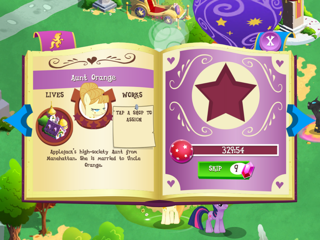 File:Aunt Orange album page MLP mobile game.png