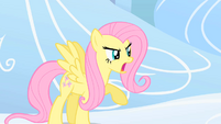 Fluttershy defending Rainbow Dash S1E16