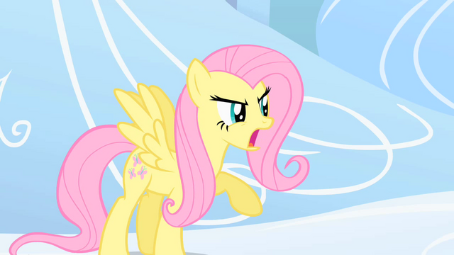 File:Fluttershy defending Rainbow Dash S1E16.png