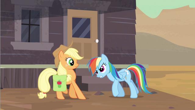 File:Rainbow Dash scolding Applejack S2E14.png