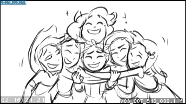 File:EG3 animatic - Main six laughing together.png