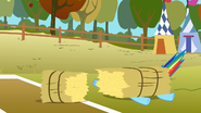 Haybale lands on Rainbow Dash S1E13