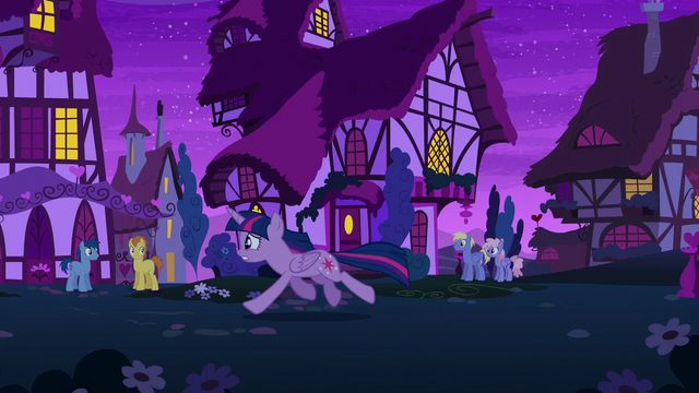 File:Twilight galloping through Ponyville at night S6E6.png