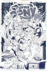 Comic issue 25 cover A uncolored
